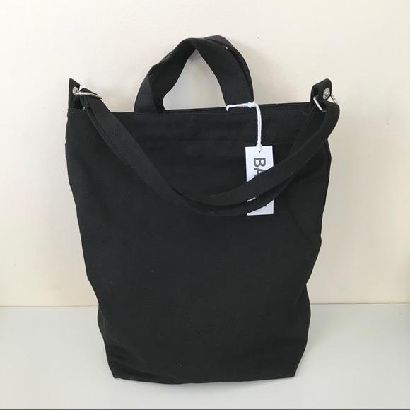8ec67dbb7f BAGGU Black Canvas Duck Bag